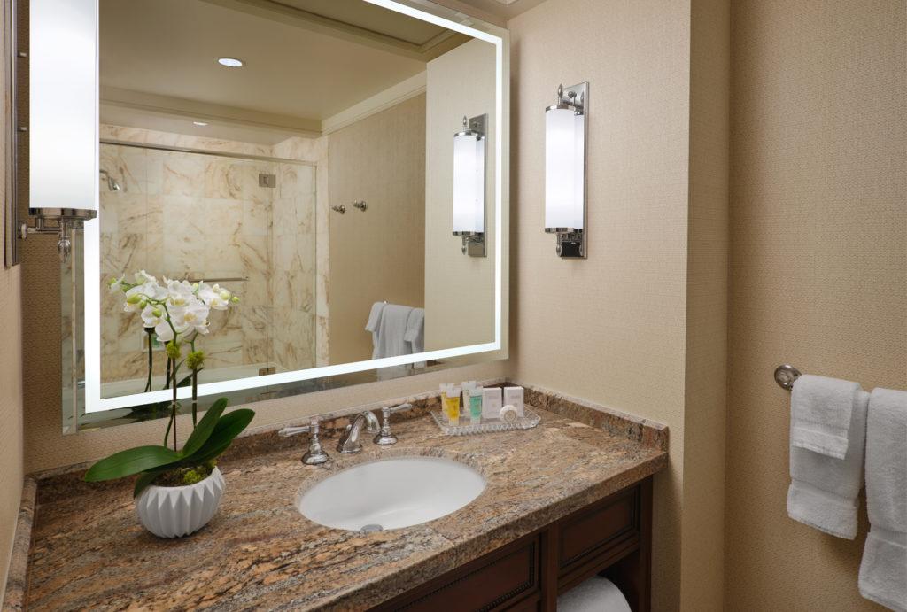 Bathroom in Little America Salt Lake tower room.